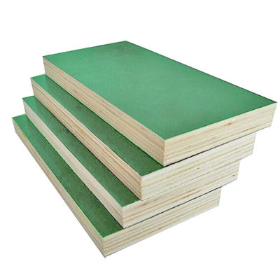 Durable Plastic Faced Green Plywood Waterproof Shuttering Plywood Lightweight